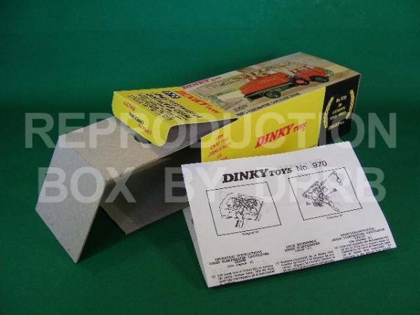 Dinky #970 Jones Fleetmaster Crane - Reproduction Box